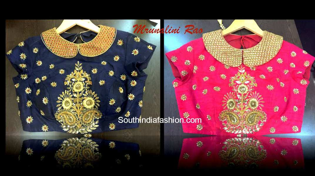 Blouse Stand Neck Designs : Collar neck blouse fashion trends south india