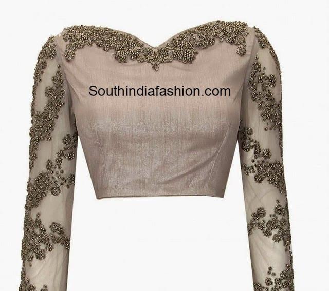 full sleeves designer blouse