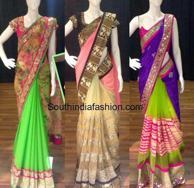 half and half designer sarees