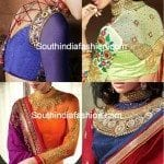 High Neck Full Sleeves Blouse Designs