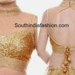 High Neck Gold Sequins Blouse