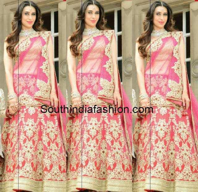 Karisma Kapoor In Neeru S Lehenga South India Fashion