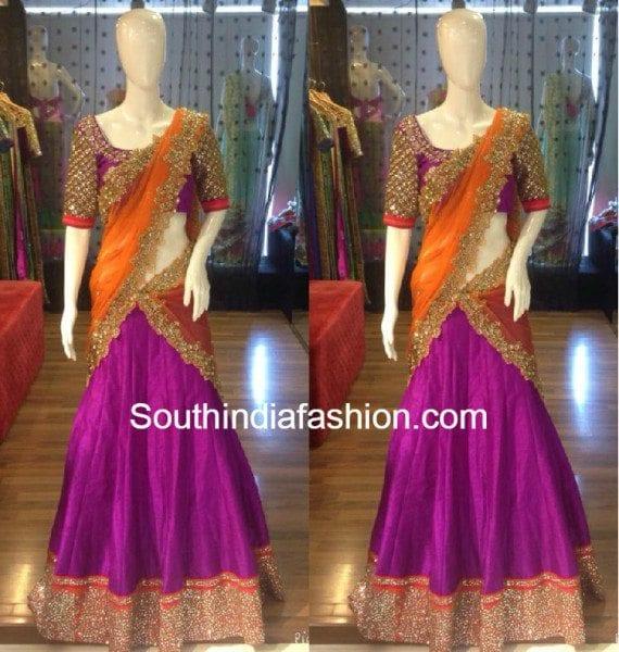 orange_purple_halfsaree