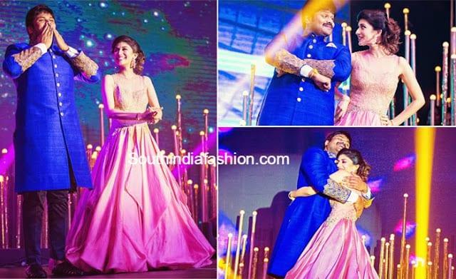 manoj and pranathi dancing at sangeeth