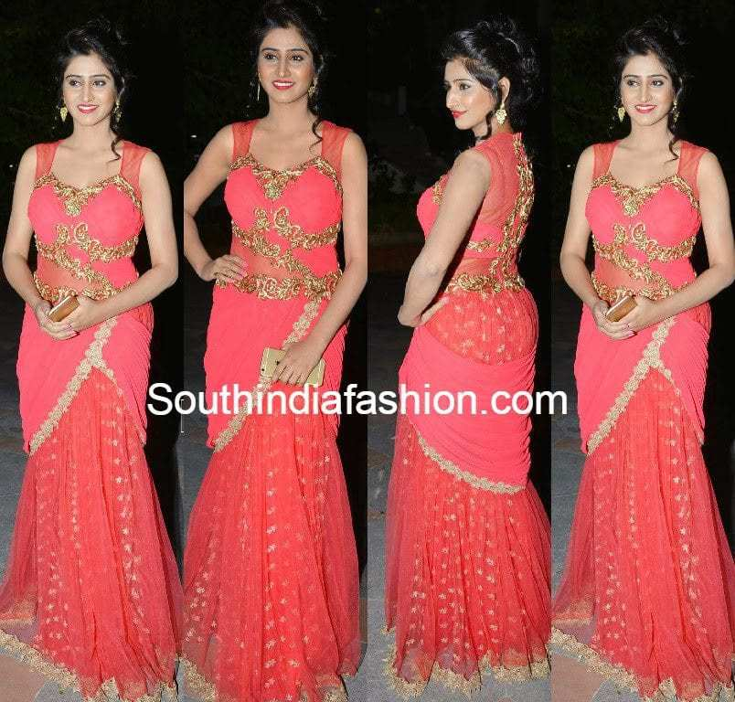 shamili in long gown at best actors music launch