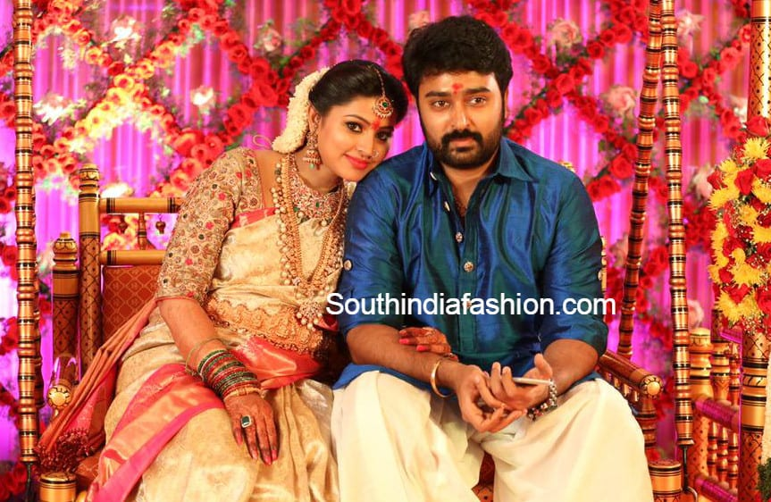 Sneha S Baby Shower Seemantham Function South India Fashion