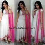 Adah Sharma in White Asymmetrical Anarkali