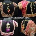 Gorgeous Designer Blouses for Wedding Silk Sarees