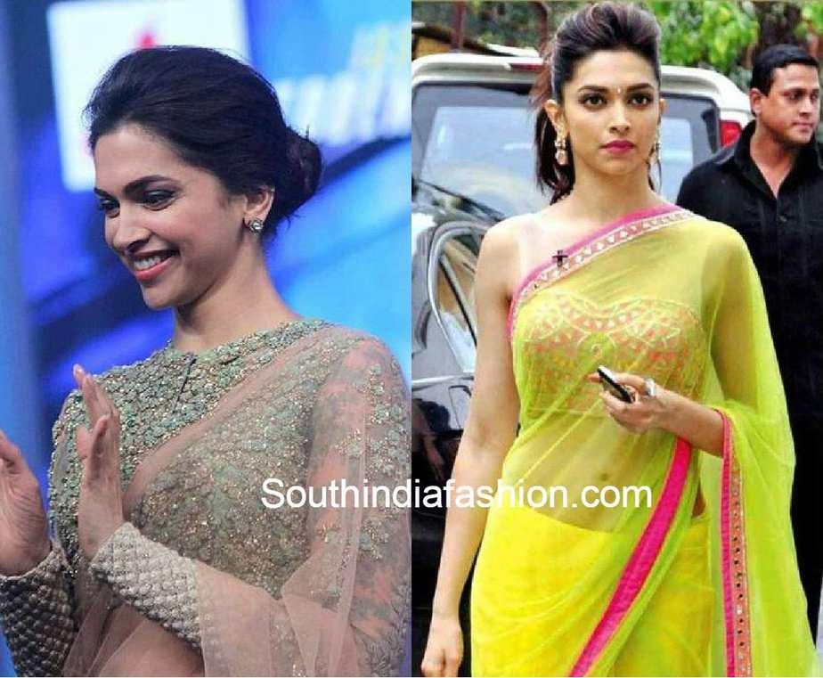 Deepika Padukone Blouse Designs - South India Fashion