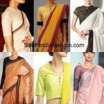 Blouse Designs for Formal Sarees
