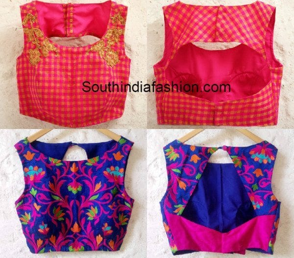 Boat Neck Blouse Designs – South India Fashion