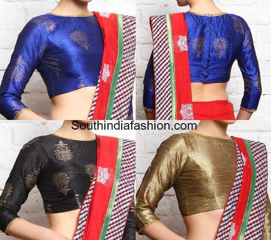 Formal Saree blouse designs