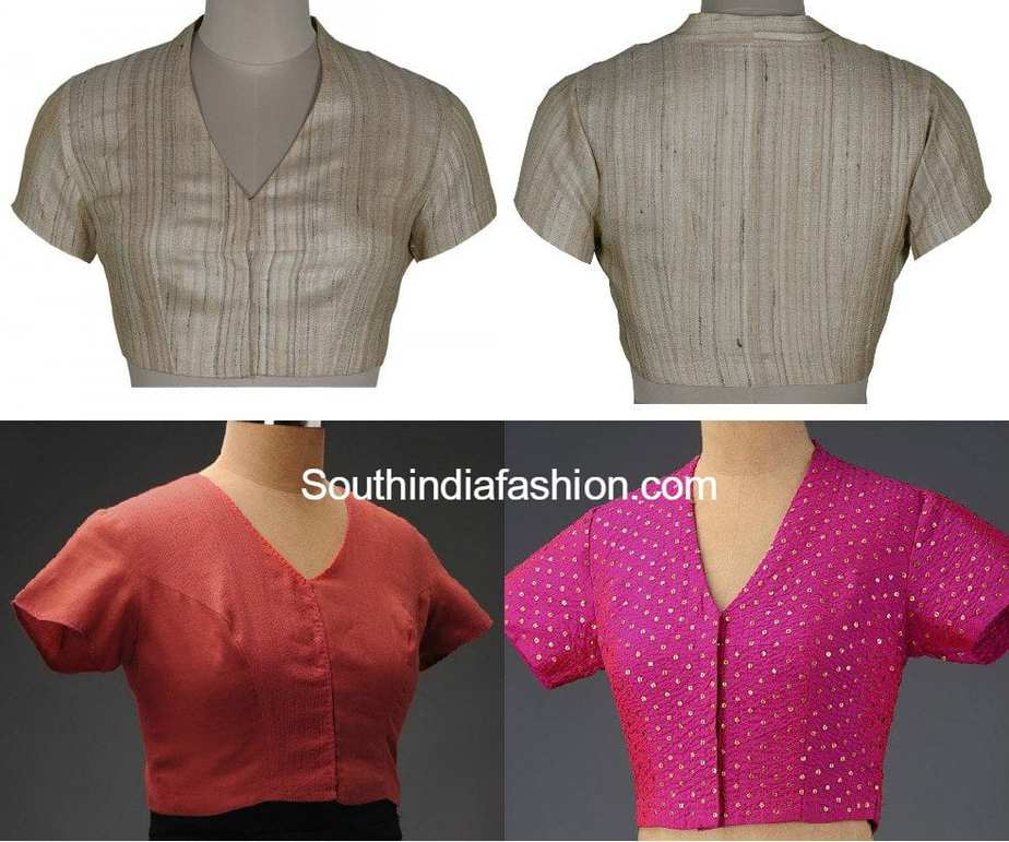 Blouse Designs for Formal Sarees • South India Fashion