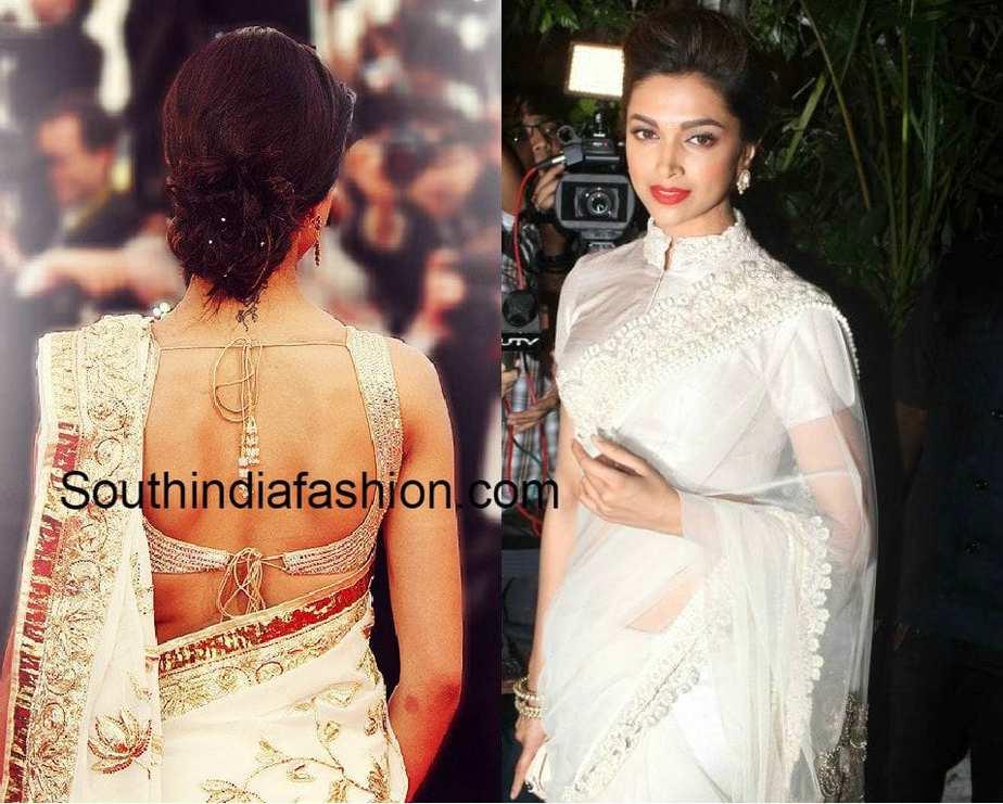 Deepika Padukone Blouse Designs -South India Fashion