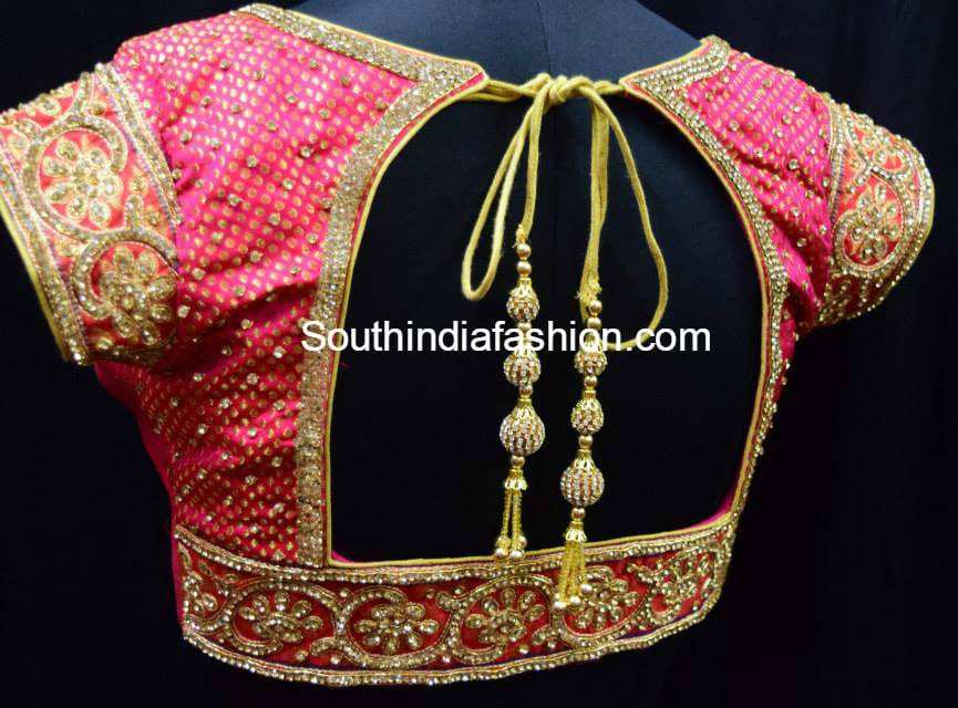 gorgeous designer blouses for wedding silk sarees �south