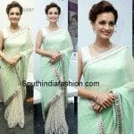 Dia Mirza in Half and Half Saree
