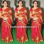 Jeevitha in Kanjeevaram Saree