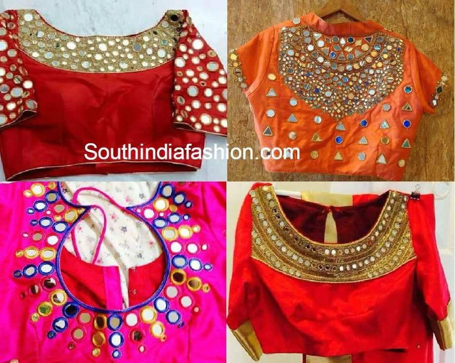 Mirror Work Blouses Online India 14