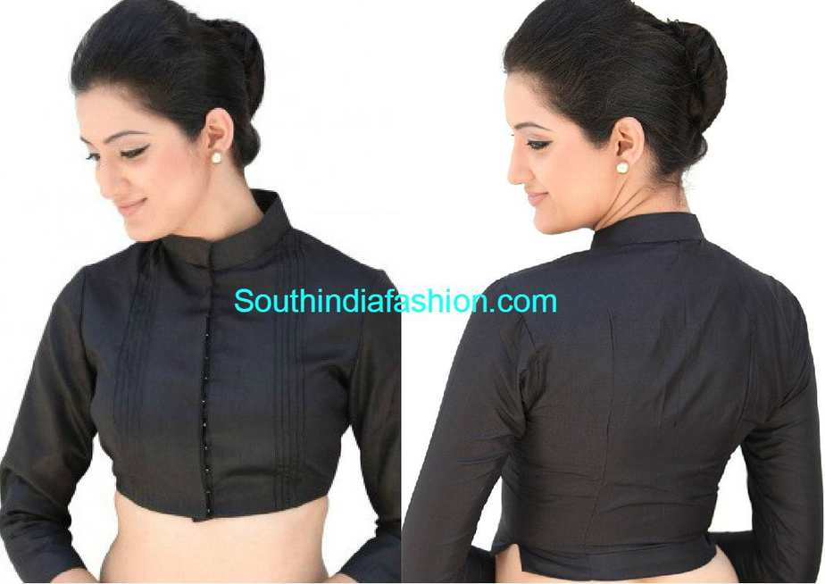 Stand Collar Blouse Designs : Formal saree blouse designs blouse designs for office wear sarees