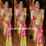 Pink Embroidered kanjeevaram Saree