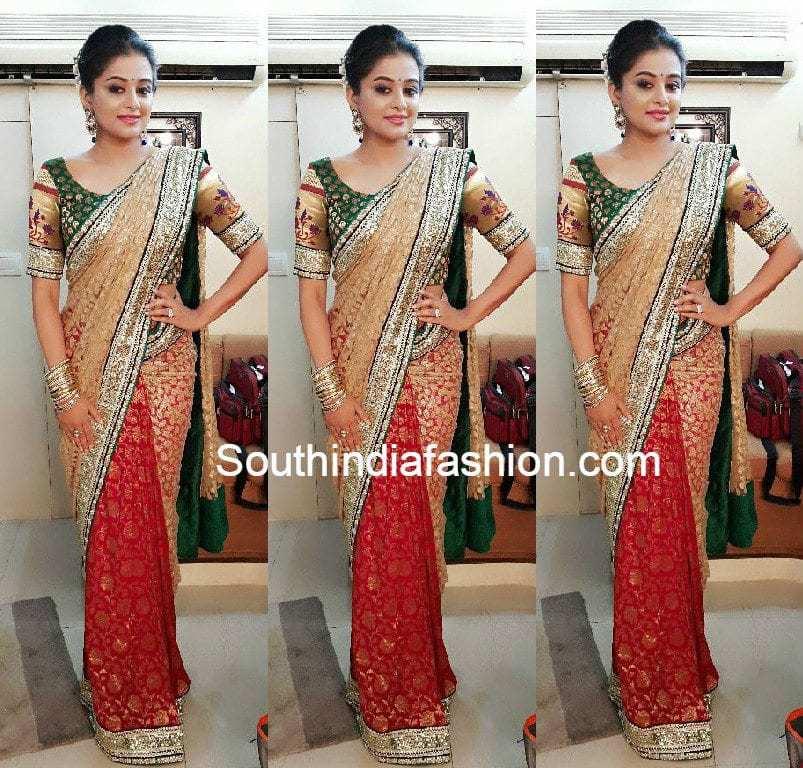 priyamani_half_and_half_saree