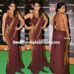 Shriya Saran in Gaurav Gupta Saree Gown