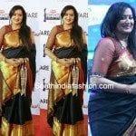 Sumalatha in Black Kanjeevaram Saree