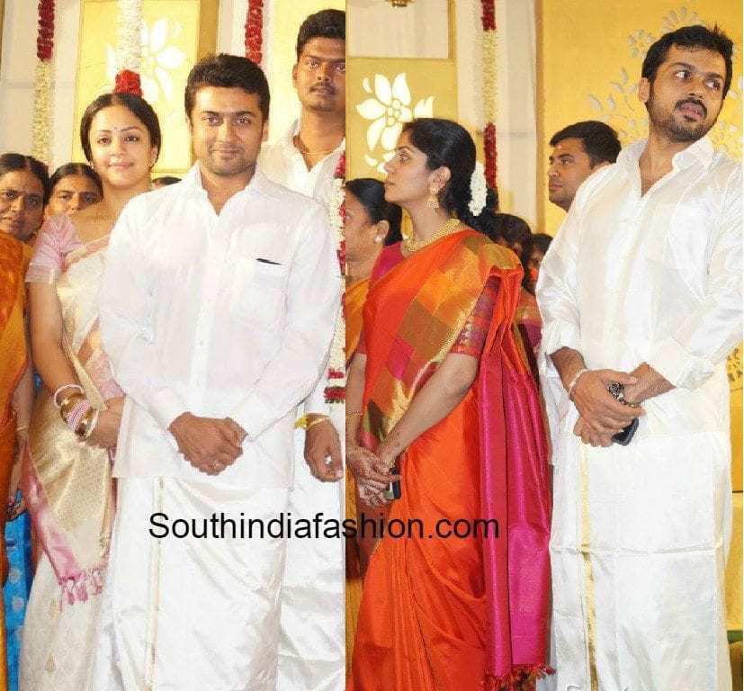 Suriya And Karthi Families At Producer SR Prabhu Wedding
