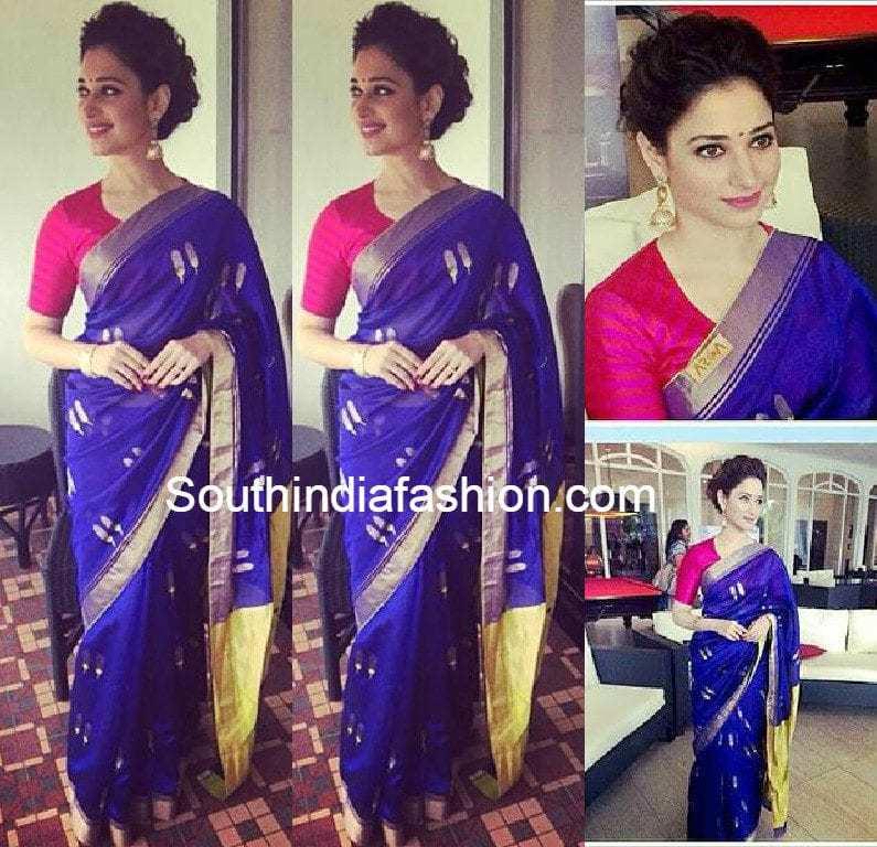 tamanna_at_baahubali_malayalam_audio_launch_blue_saree
