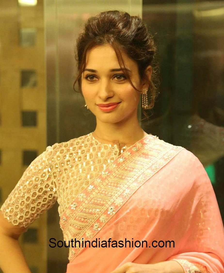 Tamanna in Abu Jani Sandeep Khosla Saree - South India Fashion