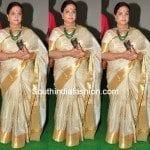 Vijaya Nirmala in Silk saree