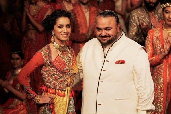 JJ Valaya with Shraddha Kapoor