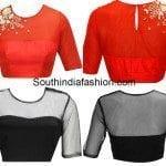 Blouse Designs with Transparent Neckline