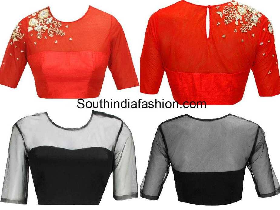 blouse_designs_with_transparent_neck
