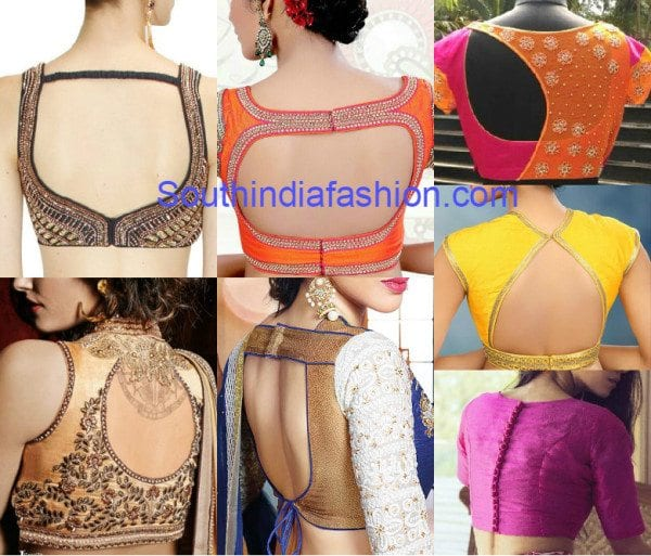 Blouse Back Neck Designs Latest 23