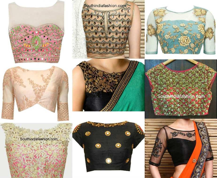 latest ladies blouse designs peach chevron blouse