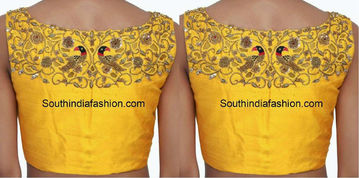Boat Neck Blouse Designs: Top 10 Boat Neck Patterns • South India ...