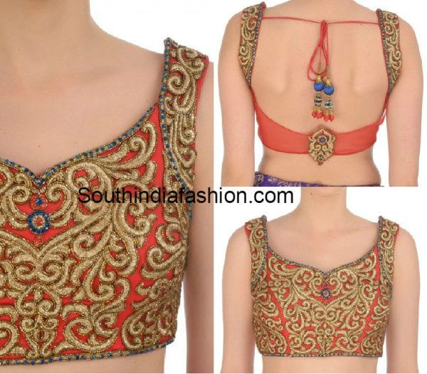 Zari Blouse Designs 42