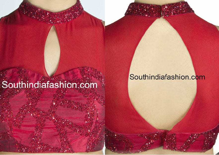 Blouse Front Neck Design Images 46