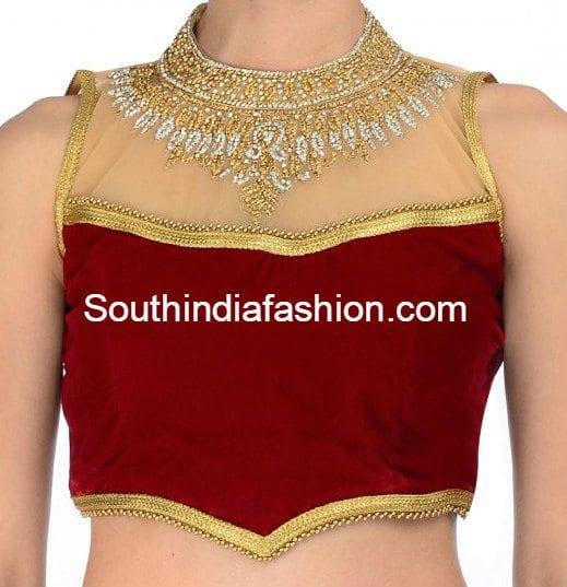 high_neck_blouse_design