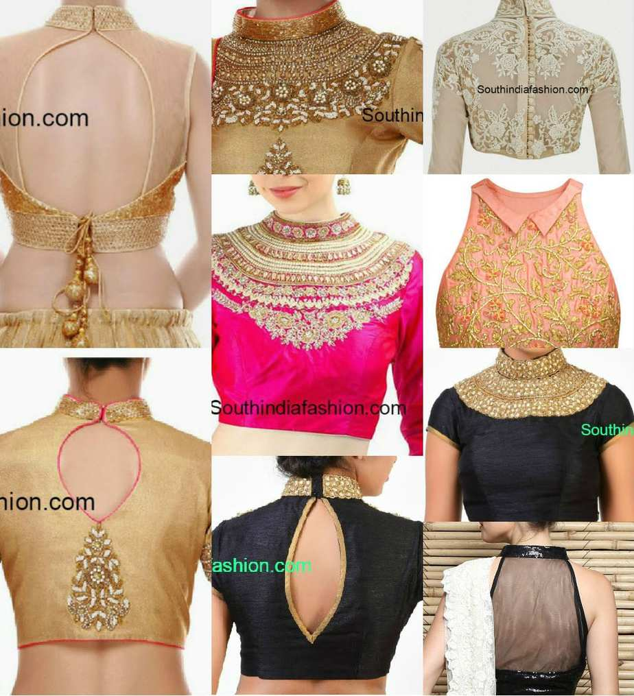Classy High Neck Blouse Designs 10 Trendy Patterns South