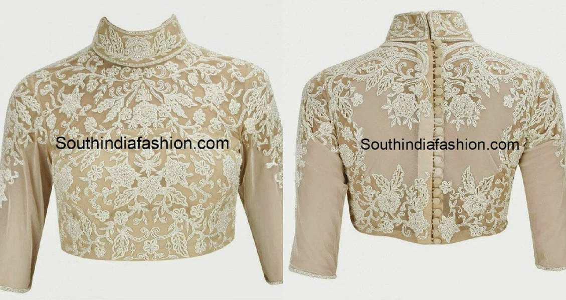 high_neck_blouse_with_show_buttons