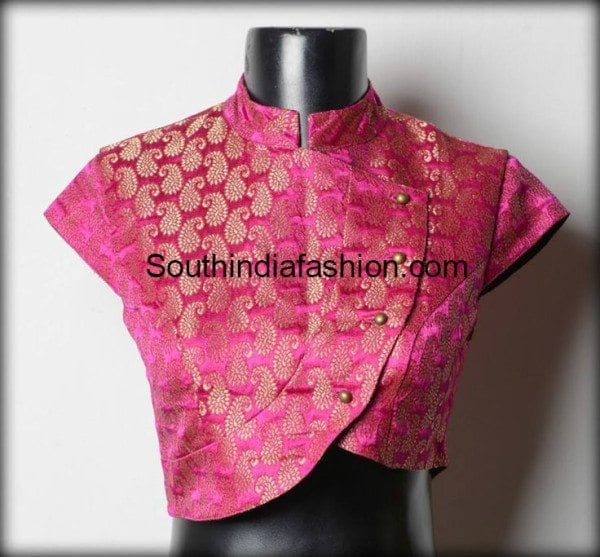 high_neck_brocade_blouse