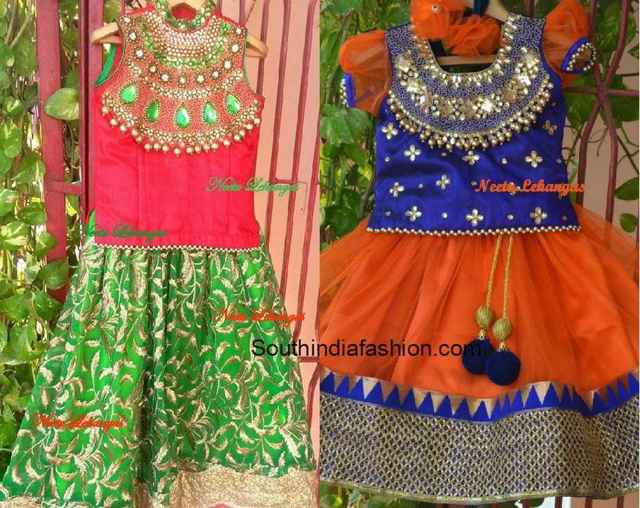 Pretty Kids Lehengas South India Fashion