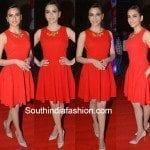 Kriti Kharbanda in Red Dress