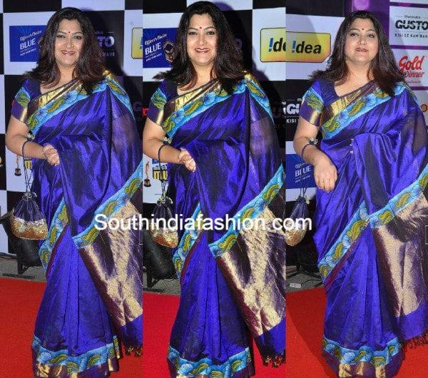 kushboo_sundar_saree_at_mirchi_music_awards