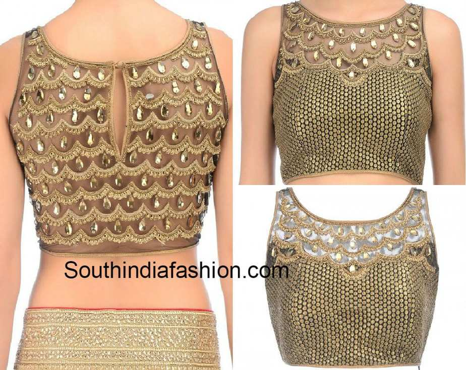 net blouse with stonework