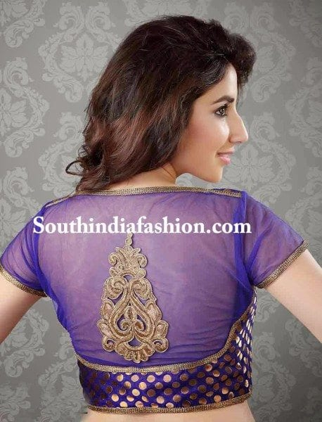 nettted-transparent-saree-blouse