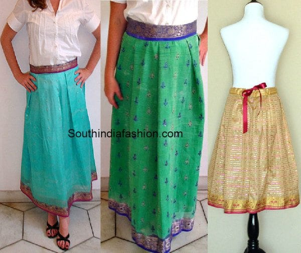 old_saree_to_skirt