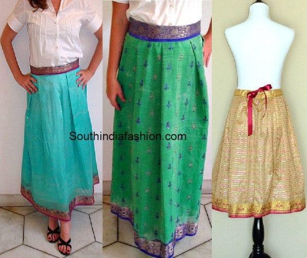 old_saree_to_skirt